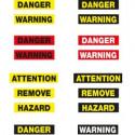 Danger avec fond