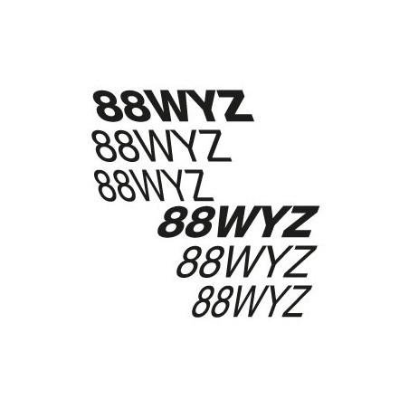 Texte ULM italique pour 5 lettres