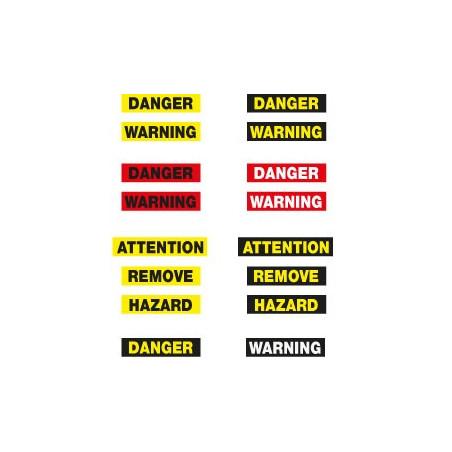 Danger avec texte sans fond