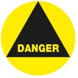 Danger rond noir