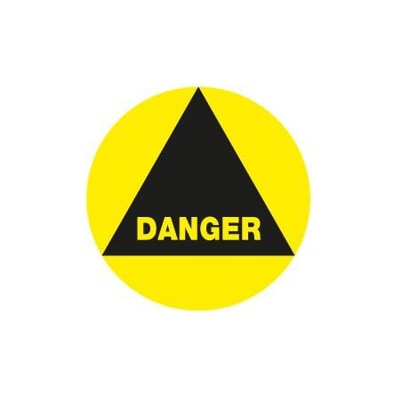 Danger rond jaune