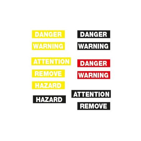 Danger découpé sur fond couleur