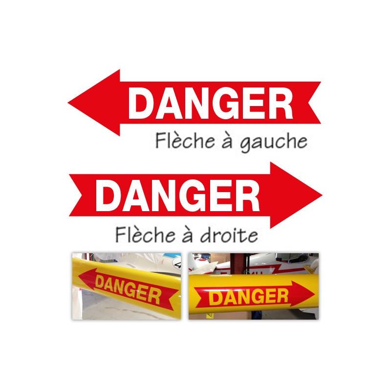 Danger fleche