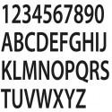 Lettres tissu adhesif
